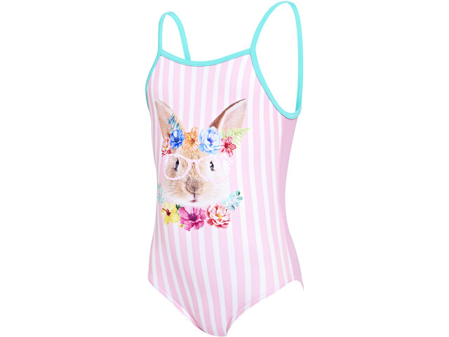 Zoggs Tropical Bunny U Back Swimsuit Girls pink